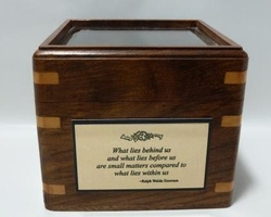 Glass Top Engraved Desk Compass:  Emerson Quote 2