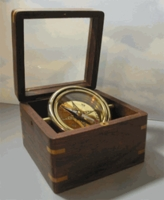 Graduation Glass Top Engraved Desk Compass: Engraved Emerson Quote I