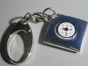 Silver Compass Pocket Key Chain