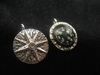 Sterling Silver Compass Rose Pendant: Working Compass