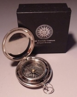 Silver Pocket Compass 1.75""