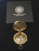 Engrave a Solid Brass Medium Size Pocket Compass with optional Rosewood Presentation Box (below)