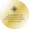 Solid Brass Pocket Compass: Thoreau Quote