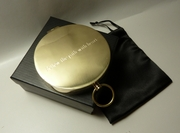 Solid Brass Pocket Compass with custom engraving
