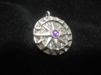 Special Edition Compass Rose Amethyst Pendant with working compass