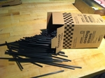 "Black drinking straw 7.5"" case 500"