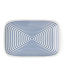 "BLUE & WHITE 6.5"" X 4.25"" PLATE - WAMON"