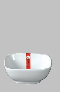 "BOWL SQ 4"" WHITE  / MIN 10 PCS TO SHIP"
