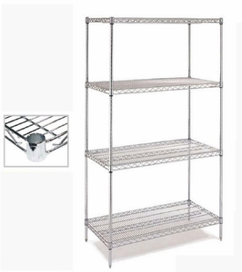 Chrome Wire Shelving - C18x36