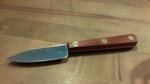 """CLAM KNIFE ROSEWOOD HANDLE BRASS RIVETS 3"""" BLADE"""