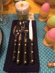 Cutlery Set 4pc Black ABS Handle