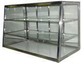 Display Cases: Tapered Front-Sliding Door-Stationary Shelves