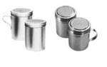 Dredges & Powder Cans-Aluminum - Stainless Steel