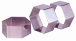 "Nonette Hexagon 2 3/8"" x 1"""