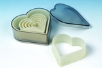 NYLON CUTTER SET BOXED HEART 7 PC SET