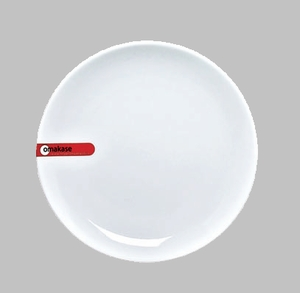 "PLATE 6.75"" ROUND WHITE MIN 6 PCS TO SHIP"