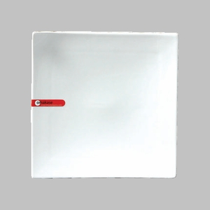 PLATE 8.25 SQ. CORNER TIPPED UP WHITE