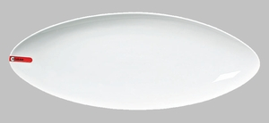 "PLATE OVAL 19X7 1/2"" WHITE / MIN 3 PCS TO SHIP"