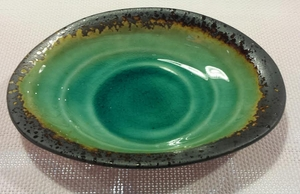 PLATE OVAL KOSUI GREEN 4.5X6.5