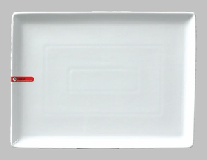 PLATE RECT 14.5X10.5 WHITE