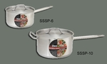 "S/S SAUCE PAN 2 Qt W/COVER, 6 1/4""x3 3/4"