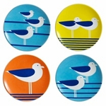"SEAGULLS 3.5"" MINI PLATE SET 4"