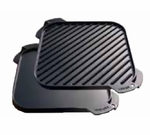 "SINGLE BURNER GRILL PAN 10.5"" REVERSIBLE SEASONED"