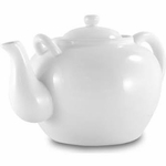 TEA POT 75 OZ WHITE