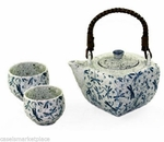 TEA SET DRAGONFLY BLUE