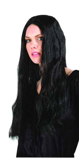 "24"" Long Black Witch Wig"