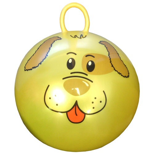 "24"" Yellow Hop Ball with Dog Face"