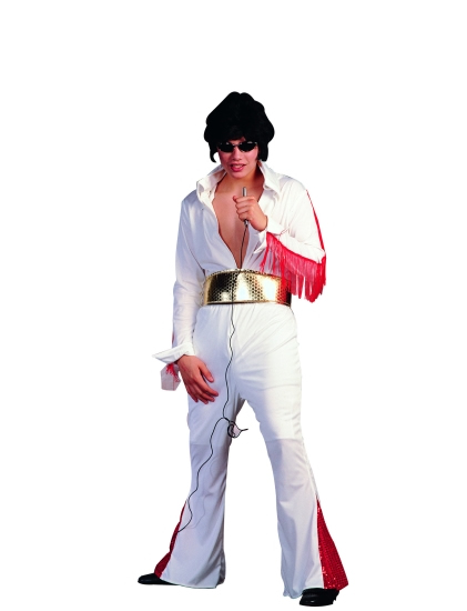 50's White Elvis Rock Star Costume