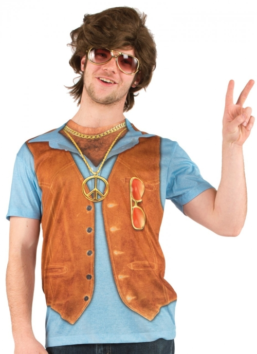70s Hippie Vest Costume T-Shirt