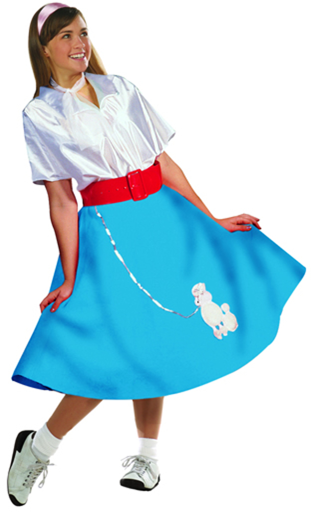 Adult 50's Poodle Skirt W/Shirt