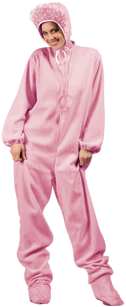 Adult Big Pink Baby Jumpsuit