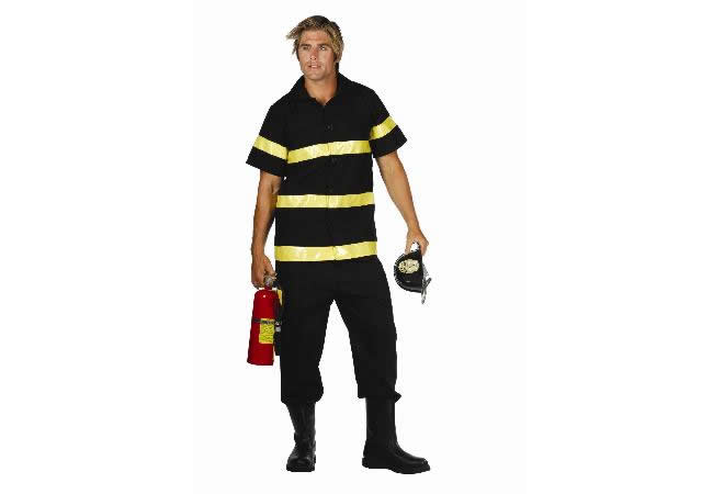 Adult Black Fire Fighter Costume