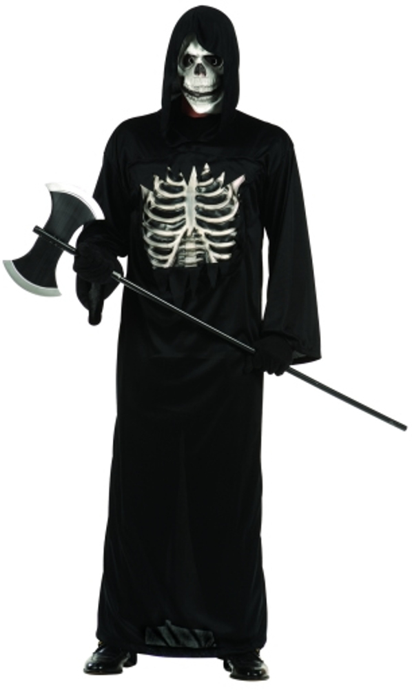 Adult Black Reaper With 3D Chest