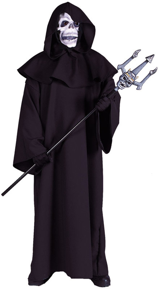 Adult Black Robe With Oversized Hood
