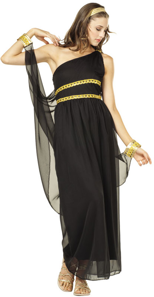 Adult Black Roman Toga Costume