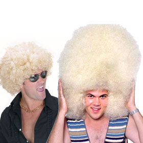 Adult Blonde Afro Wigs