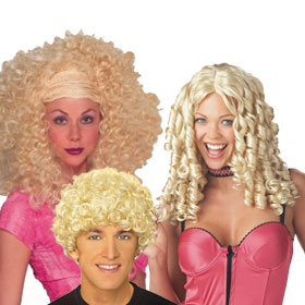Adult Blonde Curly Hair Wigs