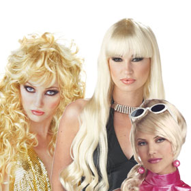 Adult Blonde Glamour Wigs