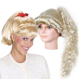 Adult Blonde Pony Tail Wigs