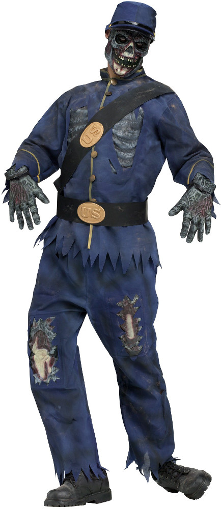 Adult Blue Union Zombie Costume