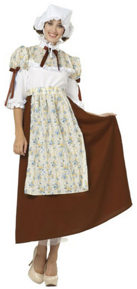 Adult Brown Colonial Bella Costume