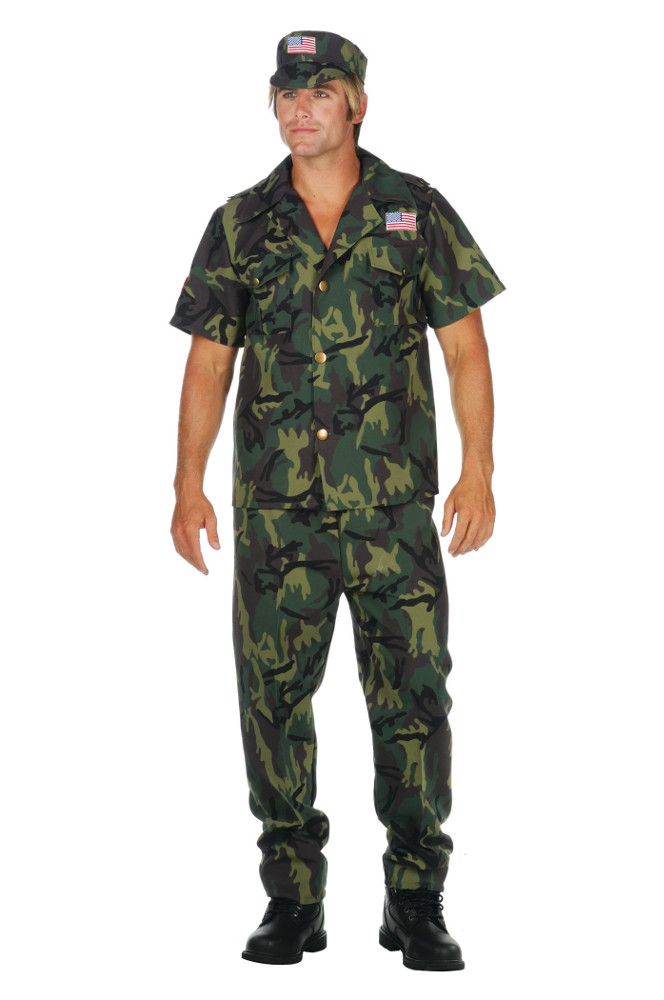 Adult Camo Commando Costume