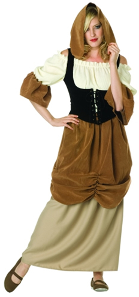 Adult Hooded Colonial Peasant Costume