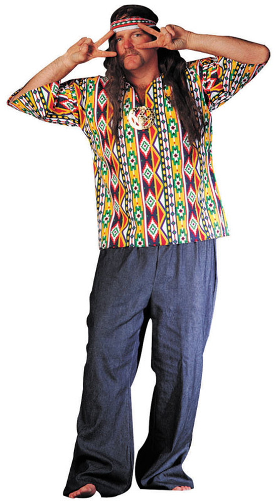Adult Plus Size 60's Hippie Costume