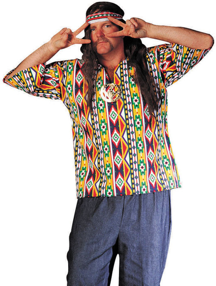 Adult Plus Size 60's Hippie Dashiki