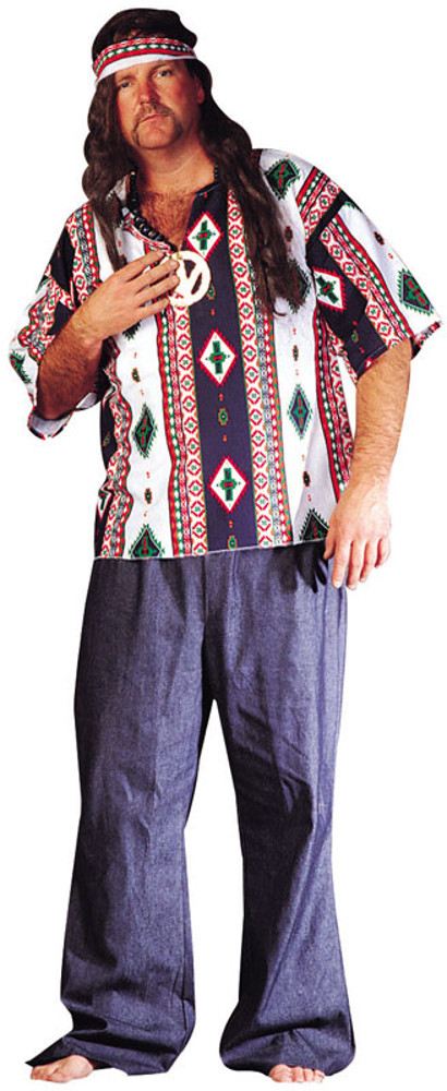 Adult Plus Size 60's Peace Child Costume